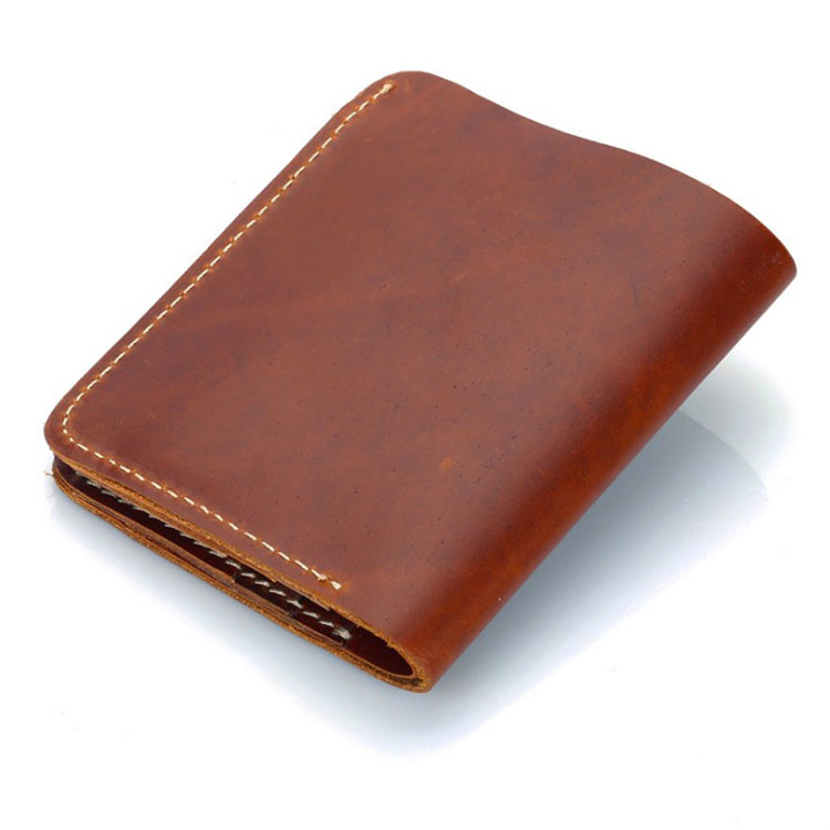 new fashion mens brands soft plain crazy horse leather <strong>wallet</strong>