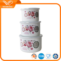 wholesale custom printed high mixing water bowl set fresh seal bowl