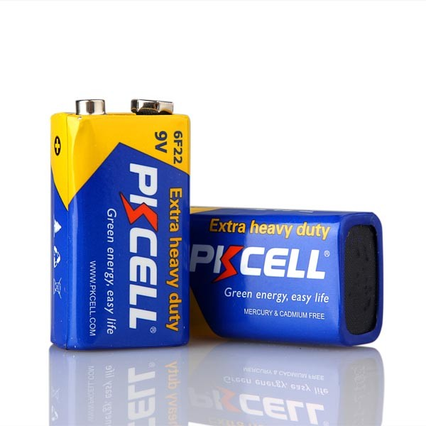 Shenzhen PKCELL Extra Heavy Duty Zinc Carbon 6F22 006P 9V Dry Cell Battery with Cheap Price