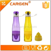 Tritan plastic fruit infuser water bottle for kids