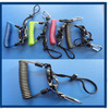 Colored Protective Safety Spring Ropes Lanyard With POM Swivel Hooks For Lock