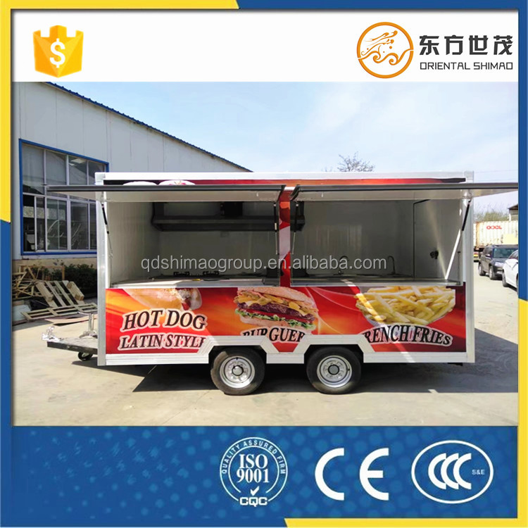 shawarwa bbq waffle carts hotdog food vending cart <strong>price</strong> with frozen yogurt machine