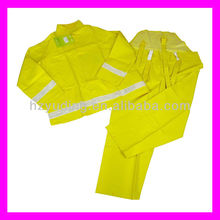 PVC/Polyester (0.18-0.35mm)waterproof heavy duty long raincoat
