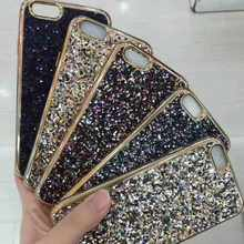For iPhone 6/6plus/7/7plus Glitter Back Case, Bling Bling TPU Mobile Phone Case,Bling Diamond Stone Phone Case