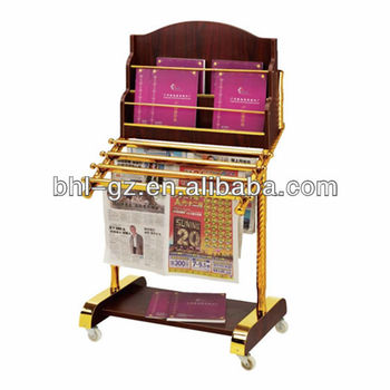 High Quality Wooden Library Newspaper Racks Magazine Rack Brochure Rack For  Hotel Restaurant Office Library