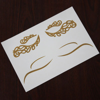 Gold foil temporary tattoo eyeline tattoo sticker metallic tattoo