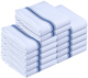 Kitchen Towels - Dish Cloth - Machine Washable Cotton White Kitchen Dishcloths