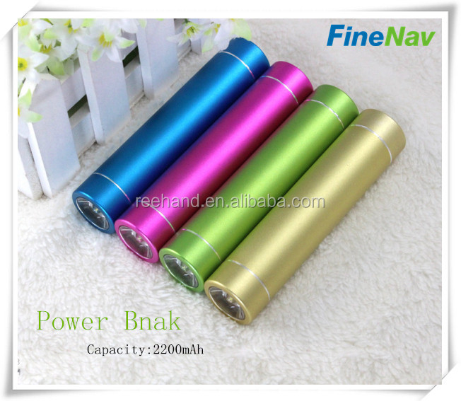 2015 new mini power bank 2200mAh Universal for smart phones aluminum shell
