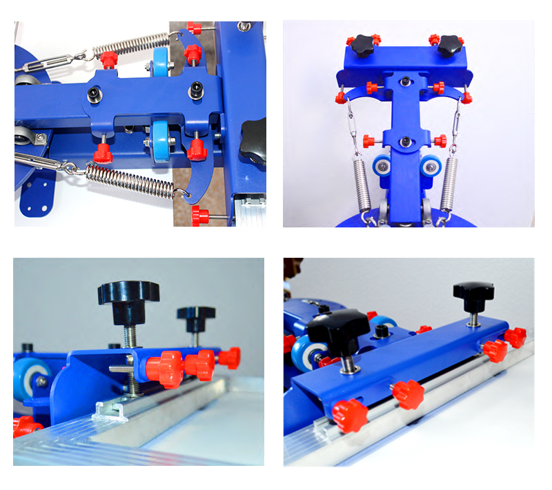 Six colors manual double rotary t shirts screen printing machine