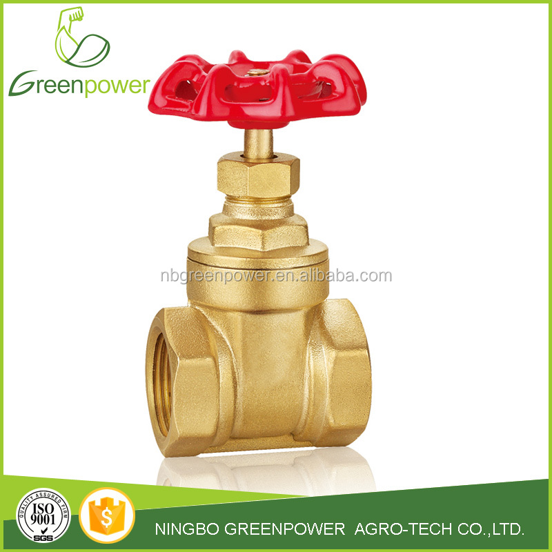 4 inch female brass gate valve 200wog BSP thread gate valves oil and gas pipeline