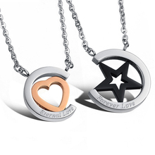 Online shop cheap wholesale 316L stainless steel jewelry couple pendant necklace