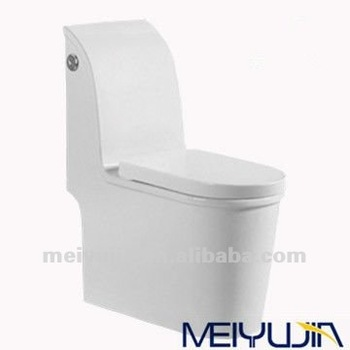 WDI dual flush fitting WC bathroom sets western sanitary ware water closet Siphonic One-piece Toilet