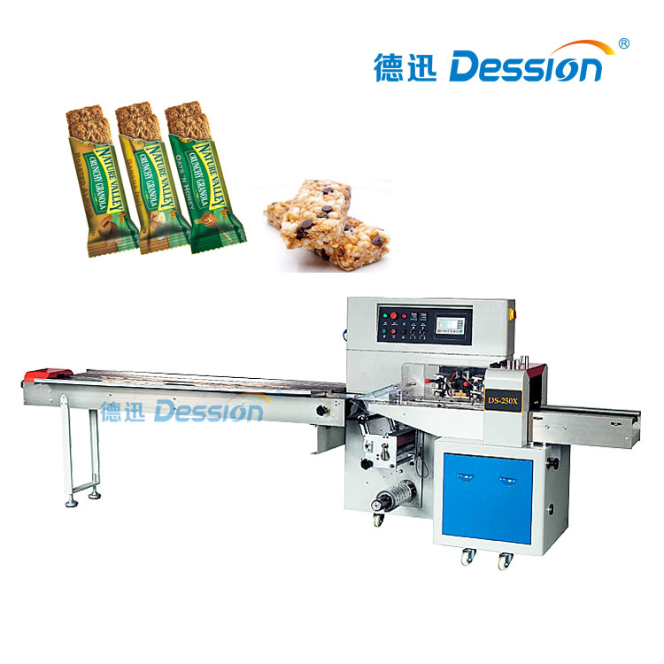 Granola Bar Packaging Machine For Cereal Bar With Pouch Packer