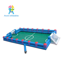0.9mm PVC Free air pump Indoor outdoor new portable mini inflatable water soccer football field for sale