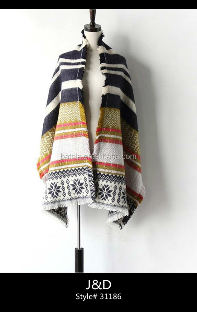 wholesale snow pattern jacquard woven scarf shawl