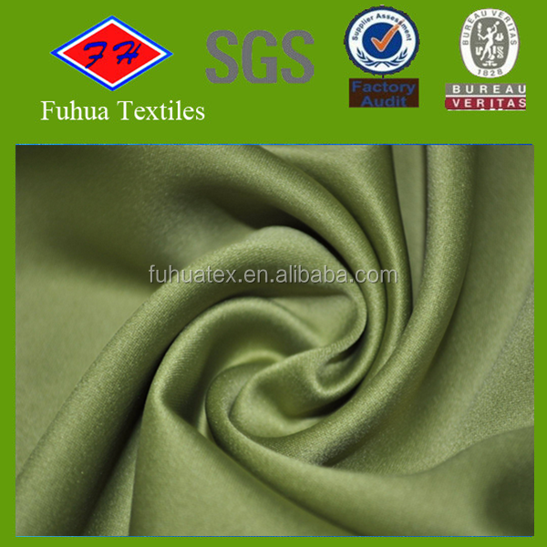 polyester 50D matte spandex fabric satin wholesale
