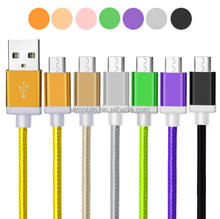 1M/2M/3M Nylon Braided Micro USB Cable, Charger Data Sync USB Cable Cord For Samsung Galaxy Cell phones 10 Colors V8 usb cable