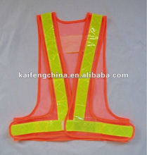 Cheap Yellow Mesh Reflective Safety Vest with High Visibility PVC Tape