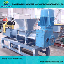 PE PP film dewatering machine squeezer for waste recycling line