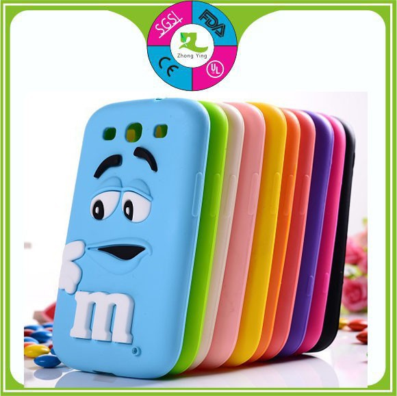 promotional gifts cheap funny 3d cartoon silicone mobile phone case