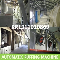 Puffed rice machine,Puffing machine,Puffed corn snacks making machine