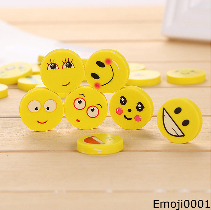 Emoji Eraser Emotion Kawaii Eraser Pencil Novelty Stationery School Supplies Kawaii Material Cute Rubber Eraser