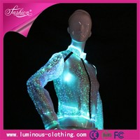 new fiber optic clothing luminous light up bulk wholesale jacket for women