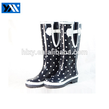 Latest design women sexy waterproof shoes dot safety sexy rain boots
