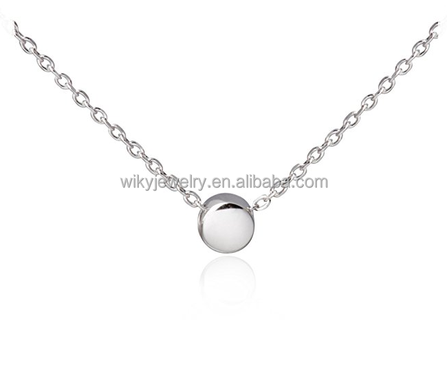 ATHENAA gold custom jewelry Minimalism Tiny Dot Silver Ball Pendant Collar Necklace