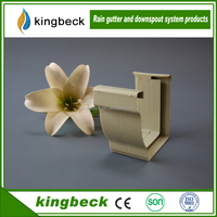 KBGP-04 Gutter joiner Low price cheap downspout Chinese factory PVC new plastic injection mould gutter water collector