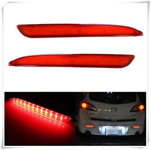 LED Bumper Reflector For Mazda3 As Brake Tail Reverse Turn Signal Backup Lights