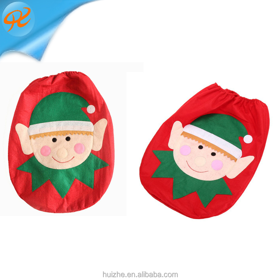 Christmas Gifts 2017 Christmas Cloth child Toilet Seat Cover And Rug Set