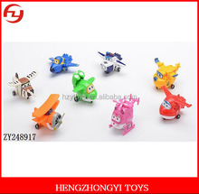 Small 8pcs new super wings plastic action figure toys