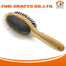 Eco friendly Double Side Bamboo Brush Pet Grooming Supply