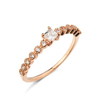 Unique simple gold ring designs with CZ Diamond Ring fashion modeling of 2016 ring