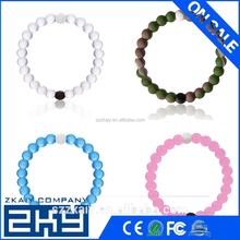 2016 New arrival Hot Summer Style Simulated-pearl Transparent Silicone Strand Bracelet Beach Bangles valentine's day