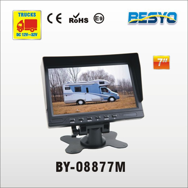 Agricultural Tractor rearview vision system, 7 inch TFT monitor for reversing safety BY-C08777M