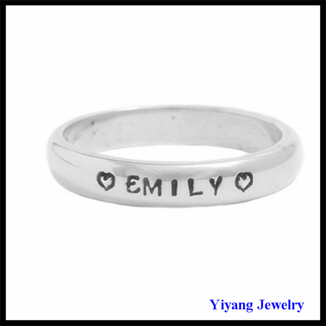 Copper O Shape Jewelry White Gold Ring Family Letter