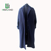 2016Popular Nave Blue Fabric Cashmere Overcoat