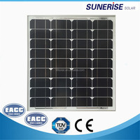 small size 12v black solar panel mono 50w photovoltaic for small home solar system