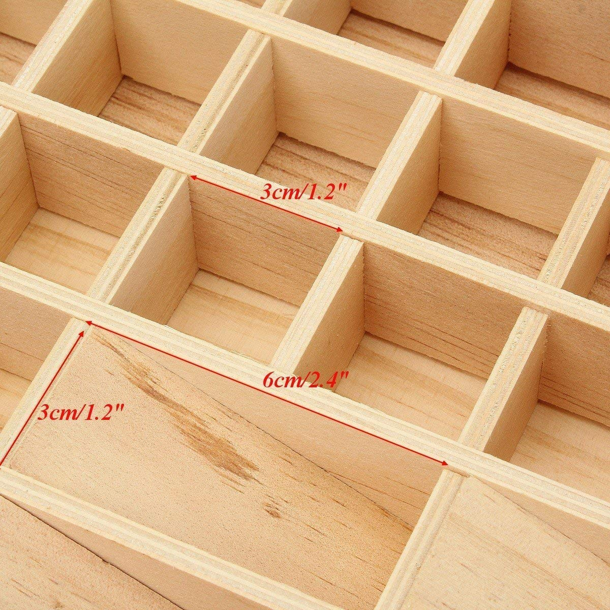 2018 Factory Hotsale Pine Wooden Essential Oil Bottle Storage Box Wooden Storage Box for wholesale