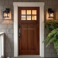 Mahogany solid wood entry doors