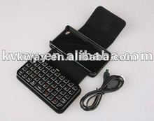 High Quality Wireless Bluetooth Keyboard keypad Leather Cover Case for iPhone 4 4s KOA057