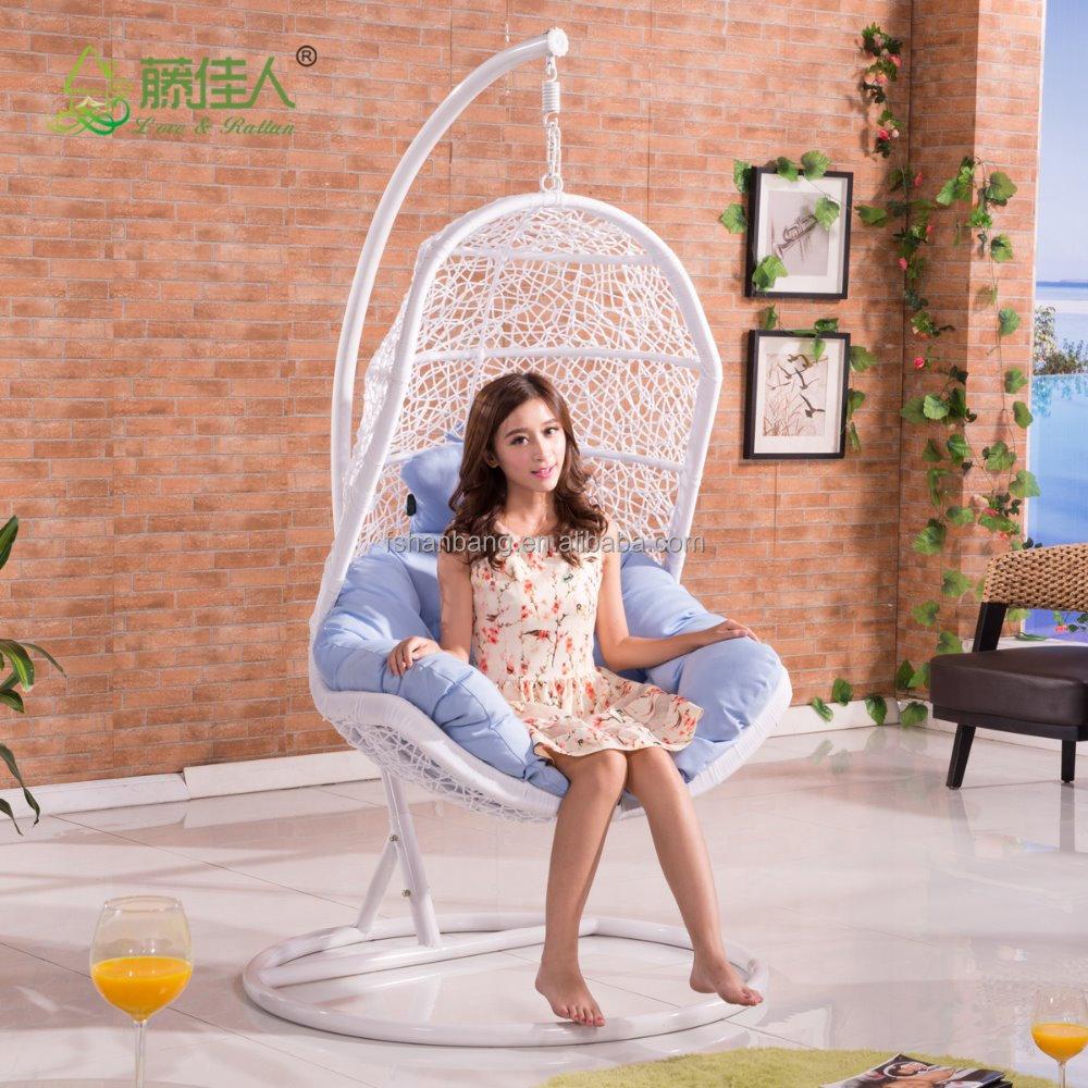 forme d 39 oeuf en osier rotin balan oire chaise lit tiss suspendus hamac balan oire id de produit. Black Bedroom Furniture Sets. Home Design Ideas