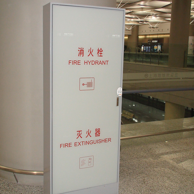 shopping mall stainless steel fire hydrant box with u-type galvanized steels