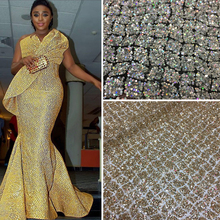 2017 africa mesh powder glitter fabric for christmas