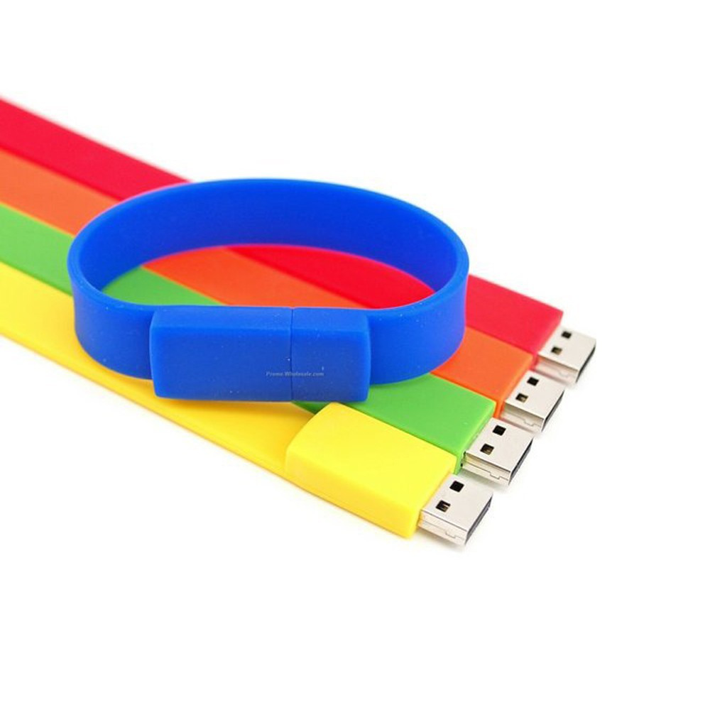 Awfully soft rubber bracelet usb flash drive memory stick