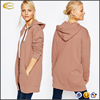Ecoach wholesale 100%cotton long sleeve Oversized plus size Zip Front hoodie stringer slim fit tall women hoodie