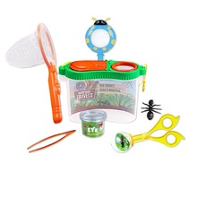 Insect Bug Adventure Set; Bug Catcher Set For Kids Backyard Exploration Kit - Bug Collection Kit - Butterfly Net,Tweezers