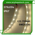 Water resistant warm white smd 5730 75ledm heavy Duty LED Rope